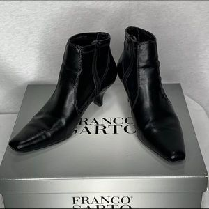 Franco Sarto Ankle Booties 7.5 Heeled Rousching